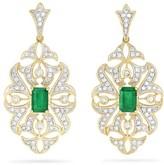 Effy Jewelry Gemma Emerald and Diamond Filigree Earrings, 1.59 TCW