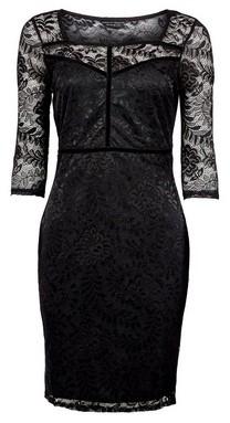Dorothy Perkins Womens **Black Velvet Trim Pencil Dress, Black