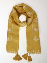 White Stuff Tribal embroidered scarf