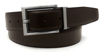 Geoffrey Beene Men's Reversible Milled Leather Belt