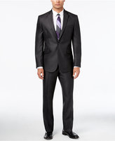 Kenneth Cole Reaction Men's Slim-Fit Charcoal Suit with Finished Pant Hem