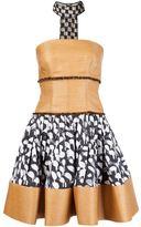 Sophie Theallet printed raffia bustier dress - women - Cotton/Polyamide/Polyester - 4