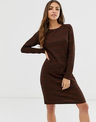 B.young textured stripe dress-Multi