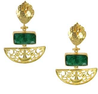 Ottoman Hands Artemis Emerald Drop Earrings