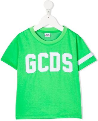 Gcds Kids embroidered logo T-shirt