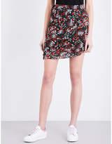 Maje Jerkita floral-print crepe mini skirt