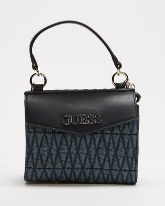 GUESS Brinkley Mini Top Handle Flap Bag
