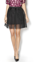 J.o.a. Black Mesh Skirt