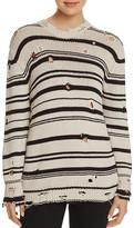 Iro . Jeans IRO.JEANS Iane Distressed Stripe Sweater