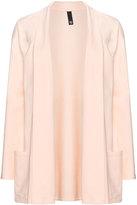 Manon Baptiste Plus Size Open front cotton blend jersey jacket