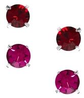 Swarovski Krystal Set of Two Crystal Stud Earrings