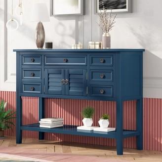 Longshore Tides Sandler 45.3'' Console Table Color: Blue