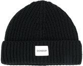 Dondup logo patch knitted beanie