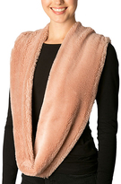 Pure Style Girlfriends Pink Faux Fur Infinity Scarf