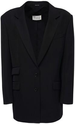 Maison Margiela Over Wool Blend Single Breast Jacket