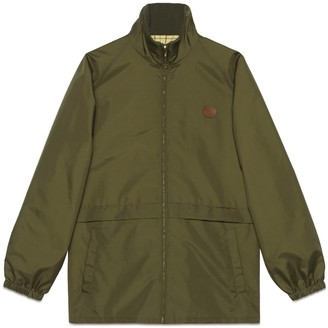 Gucci Reversible canvas nylon zip-up jacket