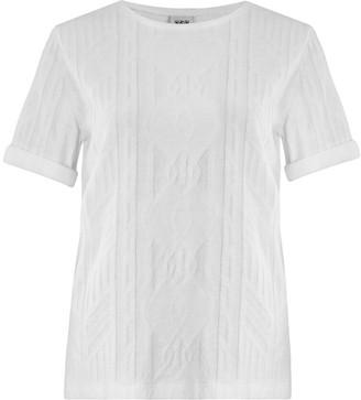 N. Jan 'n June - Boy Jacquard Tshirt - L / White - White
