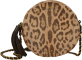 Jerome Dreyfuss Remi Circle Haircalf Leopard Shoulder Bag