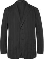 Issey Miyake Black Slim-fit Unstructured Cotton Blazer