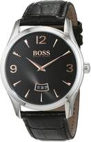 HUGO BOSS Men's 1513425 Leather Quartz Watch
