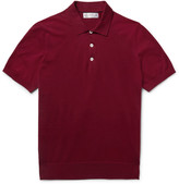 Brunello Cucinelli - Slim-fit Knitted Cotton Polo Shirt