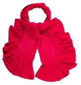 Magaschoni Ruffle-Trimmed Knit Scarf