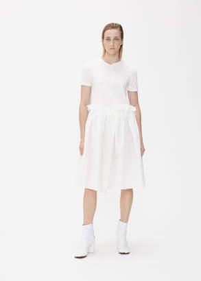 Xiao Li Asymmetric Ruffle T-Shirt Dress