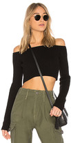 Lovers + Friends Bells Crop Sweater in Black. - size L (also in M,S,XL,XS)