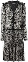 Roberto Cavalli leopard print V-neck dress