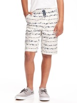 Old Navy Flat-Front Drawstring Jogger Shorts for Boys