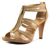 MICHAEL Michael Kors Berkley T Strap Women Open Toe Leather Platform Heel.