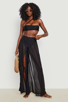 boohoo Molly Split Leg Beach Pants