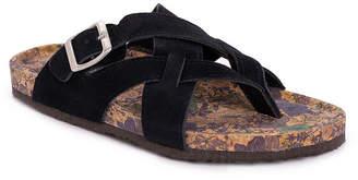 Muk Luks Womens Shayna Criss Cross Strap Flat Sandals