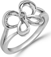 Jessica Simpson Butterfly Ring Diamond Accent in Sterling Silver