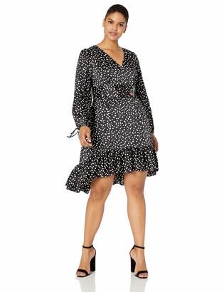 Betsey Johnson Women's Plus Size High Low Dot Dress