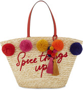 Kate Spade Spice things up straw tote