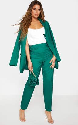 PrettyLittleThing Tall Emerald Green Wide Leg Slim Cuff Suit Trousers