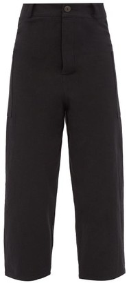 Toogood The Conductor Cotton-blend Cropped Trousers - Black