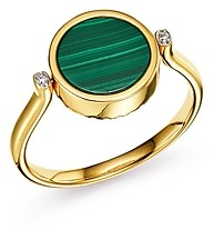 Bloomingdale's Diamond and Malachite Reversible Ring in 14K Yellow Gold - 100% Exclusive