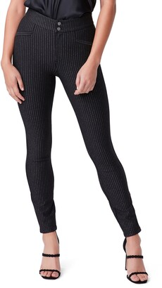 Paige Arella Metallic Stripe Ponte Pants