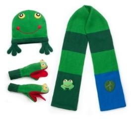 Kidorable Little and Big Boy Frog Knitwear Set