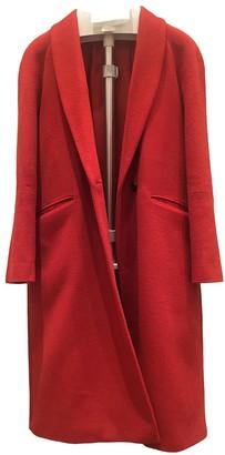 Jigsaw Orange Wool Coat for Women
