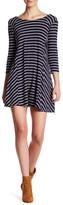 Lush 3/4 Length Sleeve Striped Dress