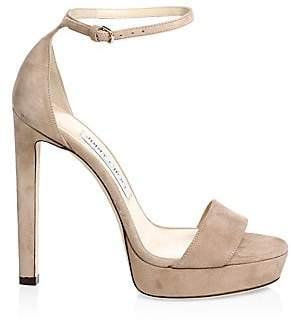 Jimmy Choo Women's Misty Suede Ankle-Strap Platform Sandals