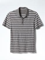 Banana Republic Slim Slub-Stripe Pique Polo