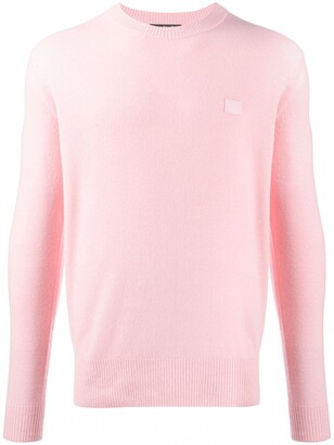 Acne Studios Face-patch crew neck jumper
