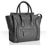 anthracite leather micro luggage shopper tote