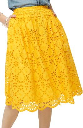 J.Crew Eyelet Skirt