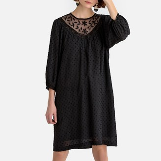 La Redoute Collections Flared Embroidered Dress