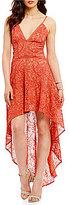The Jetset Diaries Rava Lace Hi-Low Maxi Dress